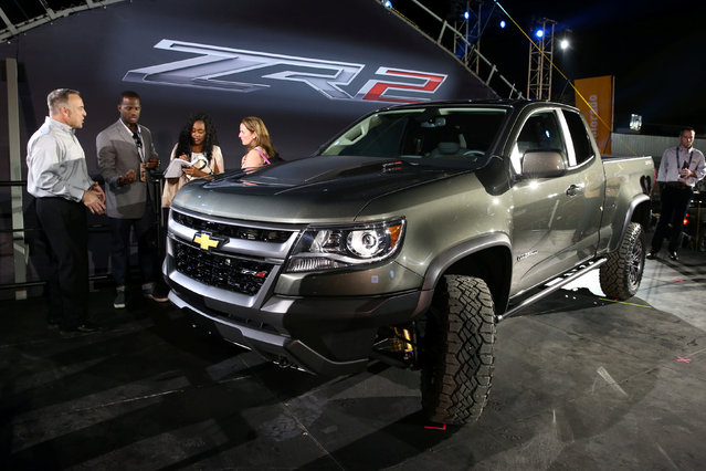 The 2017 Chevy Colorado ZR2 is unveiled in Los Angeles, California, U.S. November 15, 2016. (Photo by Lucy Nicholson/Reuters)