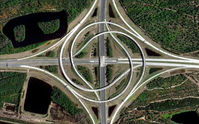 Turbine Interchange, Jacksonville, Florida. (Photo by Benjamin Grant/Digital Globe/Caters News)