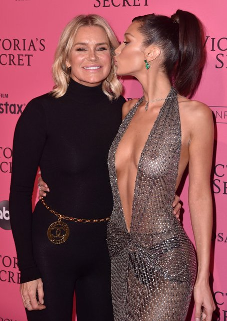 Yolanda Hadid and Bella Hadid attend the 2018 Victoria's Secret Fashion Show After Party on November 8, 2018 in New York City. (Photo by Stephen Lovekin/WWD/Rex Features/Shutterstock)