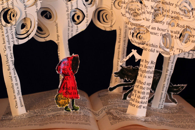 Book Sculpture by Justin Rowe