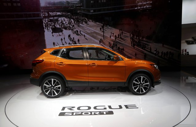 The 2017 Nissan Rogue Sport is displayed during the North American International Auto Show in Detroit, Michigan, U.S., January 10, 2017. (Photo by Mark Blinch/Reuters)