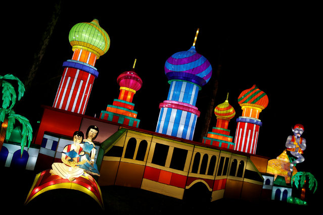 An Aladdin themed light display is illuminated during the The Magical Lantern Festival marking the Chinese new year at Chiswick House in London, Britain January 18, 2017. (Photo by Neil Hall/Reuters)