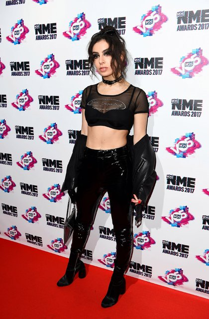 Charlie XCX arrives at the VO5 NME awards 2017 on February 15, 2017 in London, United Kingdom. (Photo by PA Wire)