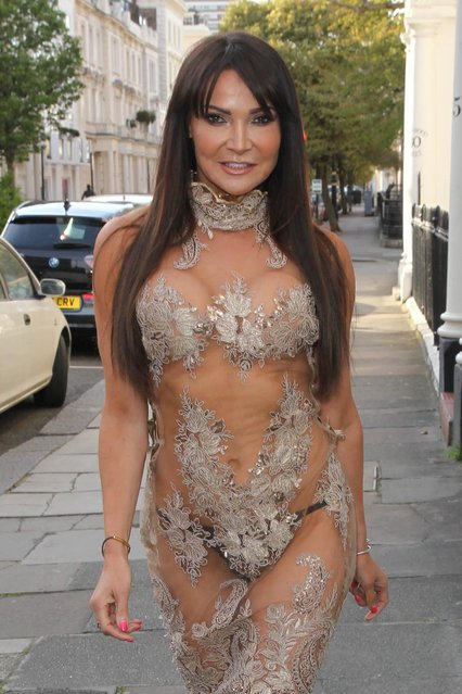 """TV and radio host Lizzie Cundy, 46, attends the World Premiere of """"The Hatton Garden Job"""" at The Curzon Soho on April 11, 2017 in London, England. (Photo by Fame Flynet)"""