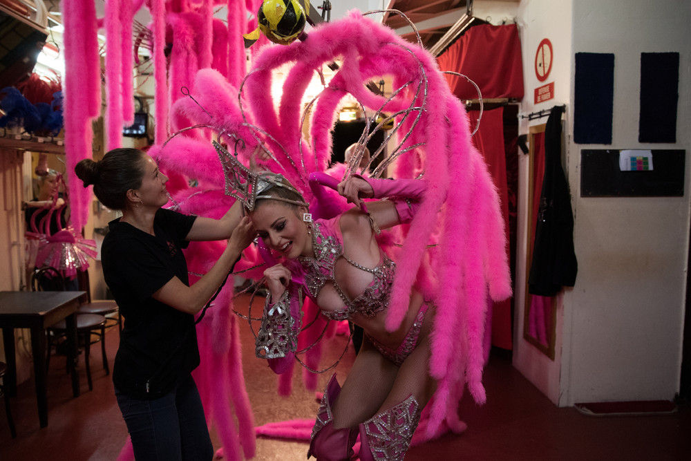 Backstage at the Moulin Rouge