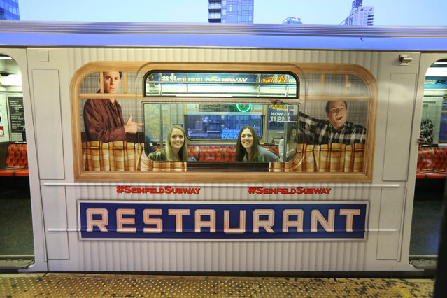 General view of atmosphere of the NYC Seinfeld Subway on May 12, 2014 in New York City. (Photo by Rob Kim/Getty Images for Sony Pictures Television)