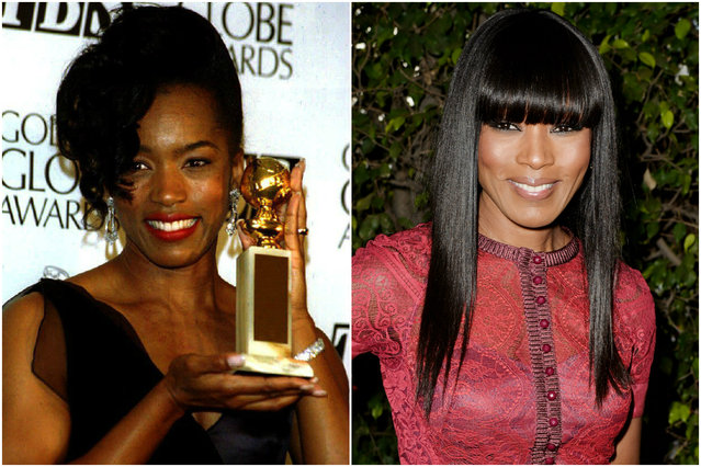 Angela Bassett in 1994 and today. (Photo by Getty Images)