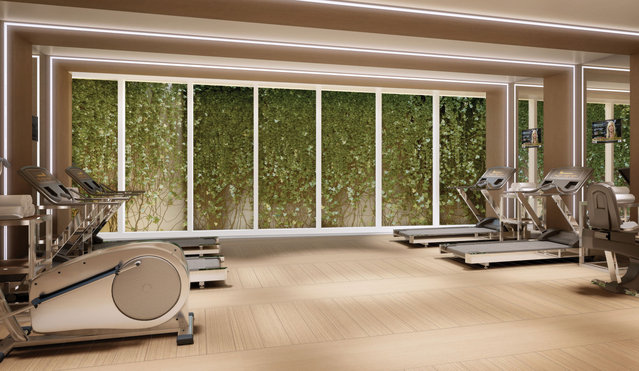 A gym helps residents keep in shape and burn off steam. (Photo by Tour Odeon)