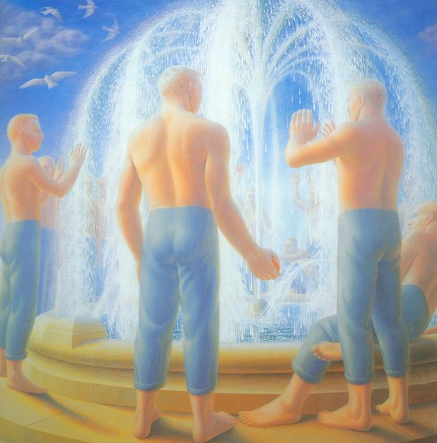 Fountain. Artwork by George Tooker