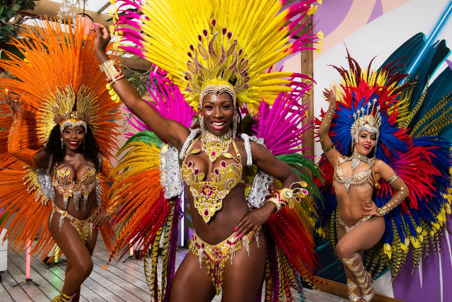 Virtual Notting Hill Carnival in London, England on August 25, 2020. This weekend the Notting Hill carnival goes virtual, showcasing the chef Levi Roots, the award-winning Brazilian band Batala, costumes from Beyoncé designer Melissa Simon-Hartman, as well as performers from carnival's digital schedule. (Photo by Will Ireland/PinPep/Rex Features/Shutterstock)