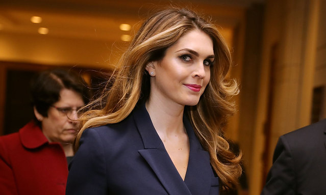 White House Communications Director and presidential advisor Hope Hicks arrives at the U.S. Capitol Visitors Center February 27, 2018 in Washington, DC. Hicks is scheduled to testify behind closed doors to the House Intelligence Committee in its ongoing investigation into Russia's interference in the 2016 election. (Photo by Chip Somodevilla/Getty Images)