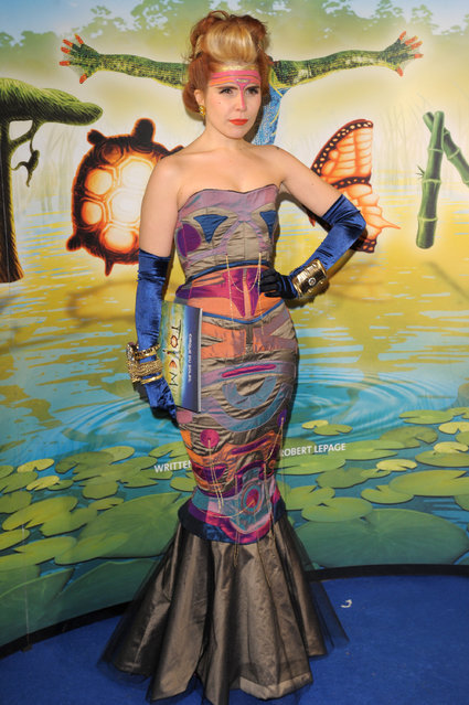 Paloma Faith attends the Cirque Du Soleil: Totem Premiere at the Royal Albert Hall on January 5, 2012 in London, England.  (Photo by Ben Pruchnie)