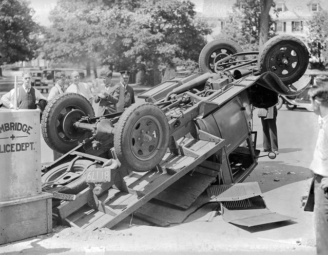 Cambridge: One killed, several injured, 1931. (Photo by Leslie Jones)