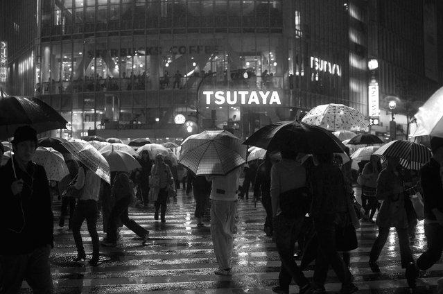 Black Rain in Shibuya, 2011. (Davide Filippini)