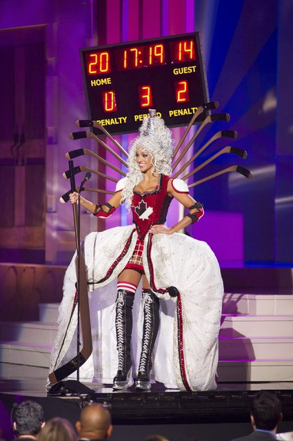 Chanel Beckenlehner, Miss Canada 2014, debuts her national costume during the Miss Universe Preliminary Show in Miami, Florida in this January 21, 2015 handout photo. (Photo by Reuters/Miss Universe Organization)