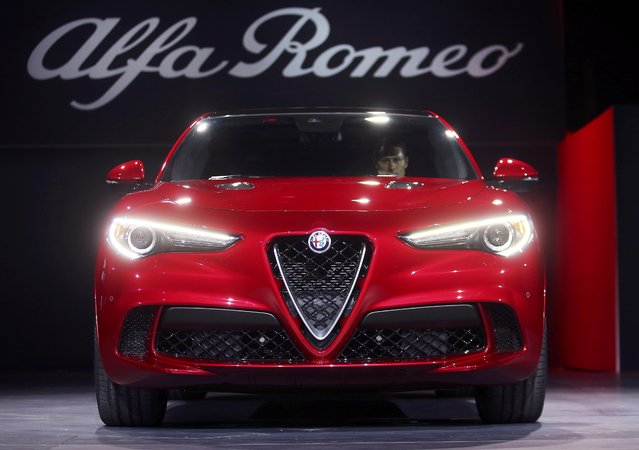 Alfa Romeo introduces the 2018 Stelvio SUV at the 2016 Los Angeles Auto Show in Los Angeles, California, U.S November 16, 2016. (Photo by Mike Blake/Reuters)