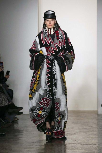 A model presents a creation from the KTZ Fall/Winter 2015 collection during New York Fashion Week, February 17, 2015. (Photo by Lucas Jackson/Reuters)