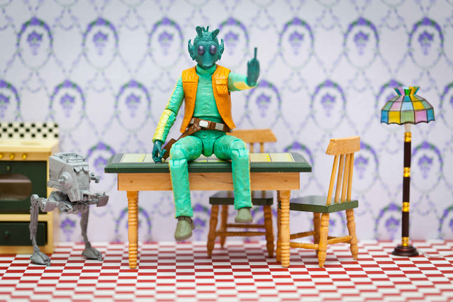 Greedo sits on a table, taken in Glasgow, Scotland, December 2016. (Photo by David Gilliver/Barcroft Images)