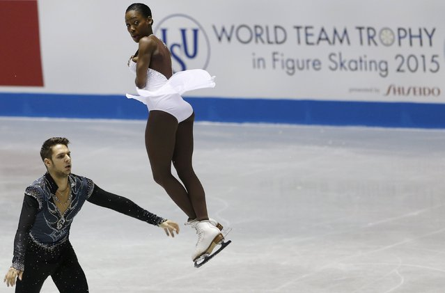 Vanessa James and Morgan Cipres of France compete during the pairs free skating program at the ISU World Team Trophy in Figure Skating in Tokyo April 18, 2015. (Photo by Yuya Shino/Reuters)