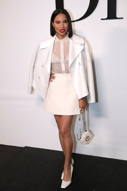 American actress Jurnee Smollett attends the Dior Womenswear Spring/Summer 2022 show as part of Paris Fashion Week on September 28, 2021 in Paris, France. (Photo by Bertrand Rindoff Petroff/Getty Images)