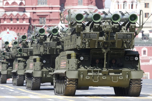 Russian BUK-M2 medium-range battlefield surface-to-air missile systems drive during the Victory Day parade at Red Square in Moscow, Russia, May 9, 2015. (Photo by Sergei Karpukhin/Reuters)