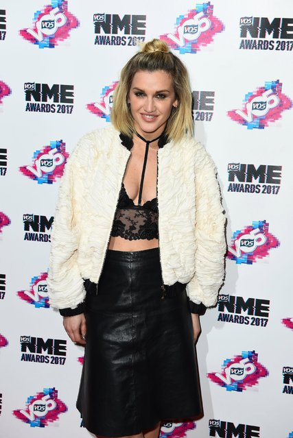 Ashley Roberts arrives at the VO5 NME awards 2017 on February 15, 2017 in London, United Kingdom. (Photo by PA Wire)