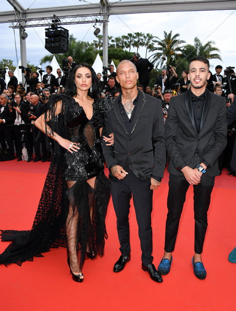 "(L-R) Andreea Sasu, Jeremy Meeks and Adam Abaida Atarshi attend the opening ceremony and screening of ""The Dead Don't Die"" during the 72nd annual Cannes Film Festival on May 14, 2019 in Cannes, France. (Photo by George Pimentel/WireImage)"