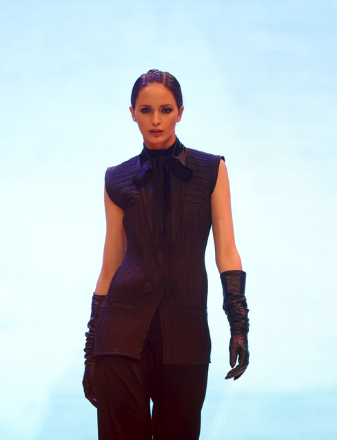 A model presents a creation by designer Eymeric Francois of France at the Malta Fashion Awards 2015 at the Marsa Shipbuilding warehouse in Marsa, outside Valletta in Malta, May 16, 2015. (Photo by Darrin Zammit Lupi/Reuters)