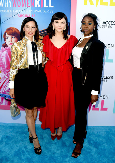 "(L-R) Lucy Liu, Ginnifer Goodwin and Kirby Howell-Baptiste arrive at the premiere of CBS All Access' ""Why Women Kill"" at the Wallis Annenberg Center for the Performing Arts on August 07, 2019 in Beverly Hills, California. (Photo by Kevin Winter/Getty Images)"