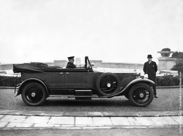 1926: A Rolls Royce car which is being used by the Prince of Wales on a tour of Margate and Ramsgate, Kent