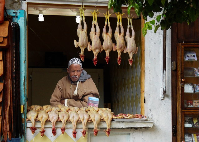 """Poultry Dealer – Morocco"". (Photo by Michael Sheridan)"
