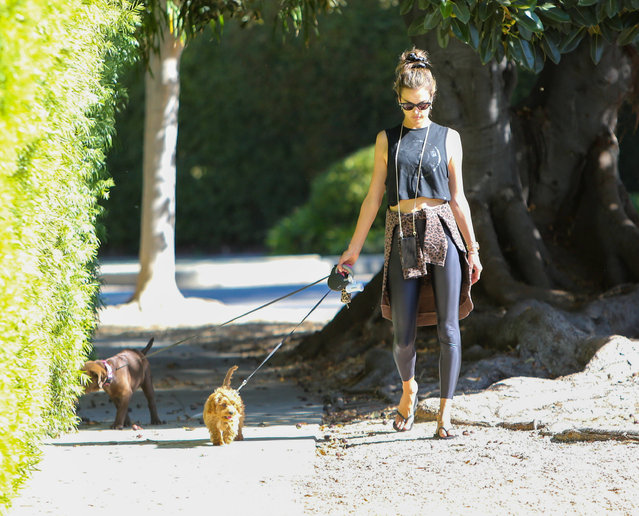 Alessandra Ambrosio out and about, Los Angeles, USA on October 21, 2019. (Photo by Rex Features/SIPA Press/Shutterstock)