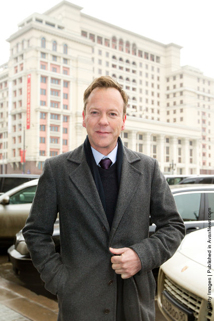 Kiefer Sutherland attends FOX presents 'Touch' global press-tour at Hotel National in Moscow, Russia