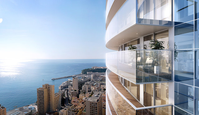 Transparent balconies drink in the panoramic views. (Photo by Tour Odeon)