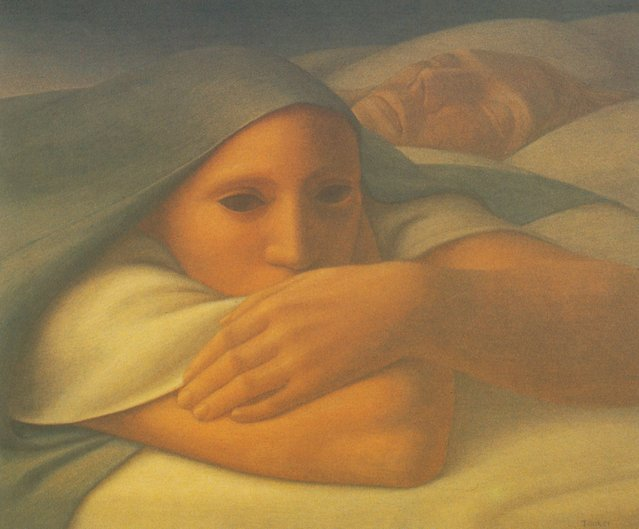 Night I. Artwork by George Tooker