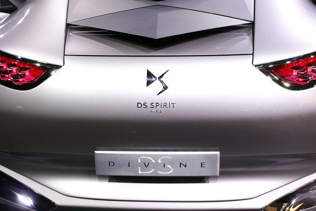 The Divine DS concept car is displayed on media day at the Paris Mondial de l'Automobile, October 2, 2014. (Photo by Benoit Tessier/Reuters)
