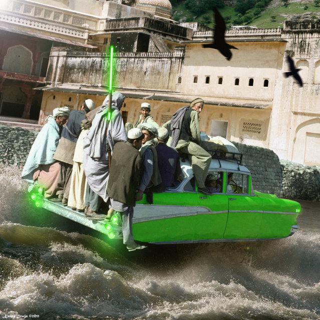 Hovering Those Crazy Rapids Of The Indus River. (Kenny Hassan Irwin)