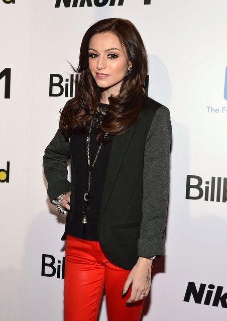 Singer Cher Lloyd attends the 2012 Billboard Women In Music Luncheon at Capitale on November 30, 2012 in New York City. (Photo by Mike Coppola)