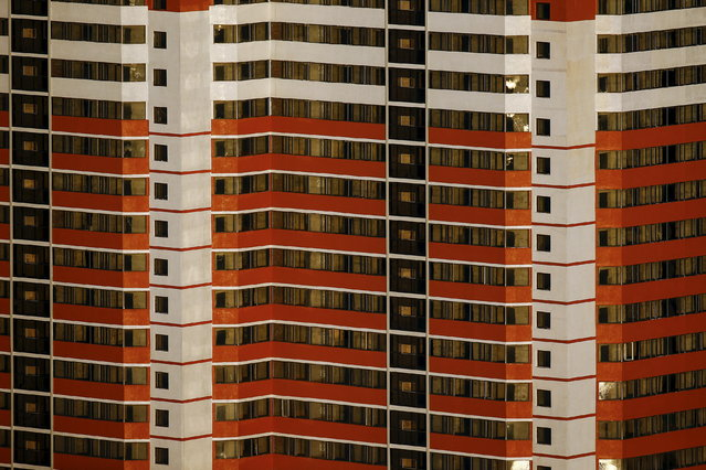 A residential building in central Pyongyang, North Korea on October 9, 2015. (Photo by Damir Sagolj/Reuters)
