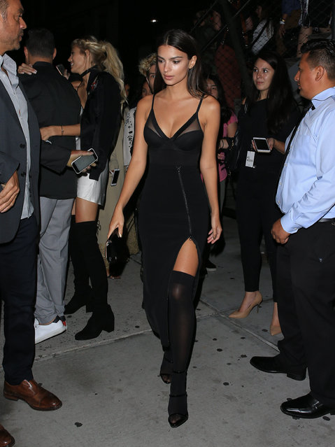 Emily Ratajkowski is seen in New York City on September 12, 2016. (Photo by BG001/Bauergriffin.com)