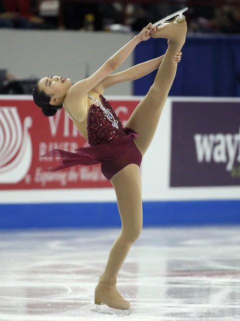 Karen Chen of the U.S. performs during the ladies singles short program at the Skate America figure skating competition in Milwaukee, Wisconsin October 23, 2015. (Photo by Lucy Nicholson/Reuters)