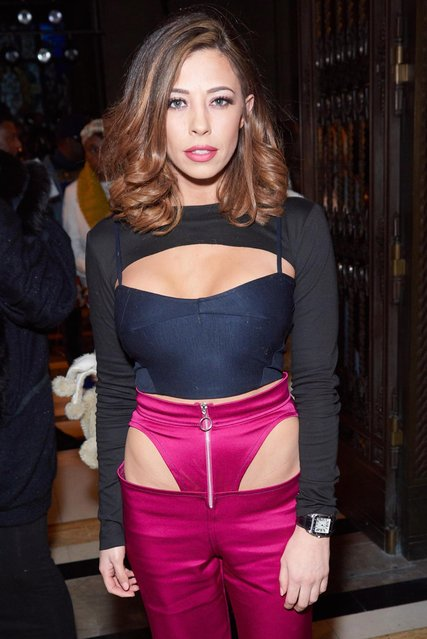Pascal Craymer seen attending Pam Hogg at Freemason's Hall during LFW February 2018 on February 16, 2018 in London, England. (Photo by Goff Photos)
