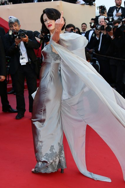 """Actress Asia Argento attends the """"Zulu"""" Premiere and Closing Ceremony during the 66th Annual Cannes Film Festival at the Palais des Festivals on May 26, 2013 in Cannes, France.  (Photo by Vittorio Zunino Celotto/Getty Images)"""
