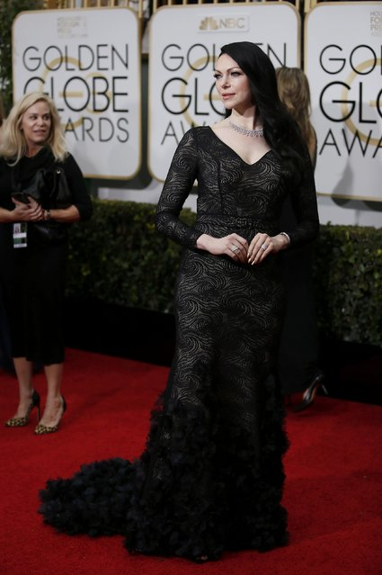 Actress Laura Prepon arrives at the 72nd Golden Globe Awards in Beverly Hills, California January 11, 2015. (Photo by Danny Moloshok/Reuters)