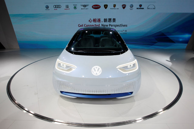 A Volkswagen I.D. electric vehicle is shown at a news conference in Guangzhou, China November 17, 2016. (Photo by Bobby Yip/Reuters)