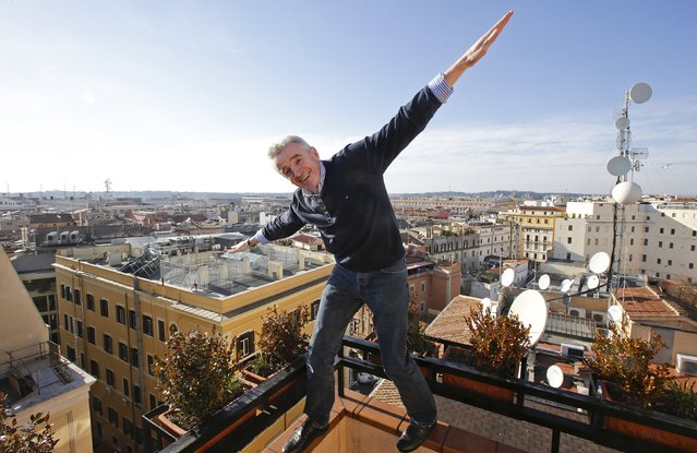 Ryanair CEO Michael O'Leary poses after a news conference in Rome, Italy in this January 27, 2015 file photo. Ryanair is expected to report Q3 results this week. (Photo by Max Rossi/Reuters)