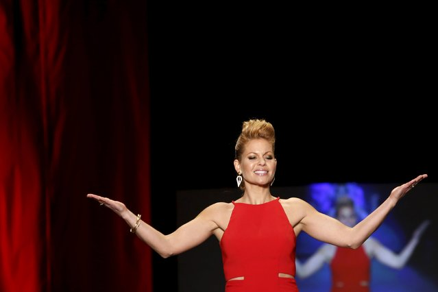 Candace Cameron-Bure presents a creation during the AHA's Go Red For Women Red Dress Collection presented by Macy's at New York Fashion Week February 11, 2016. (Photo by Andrew Kelly/Reuters)