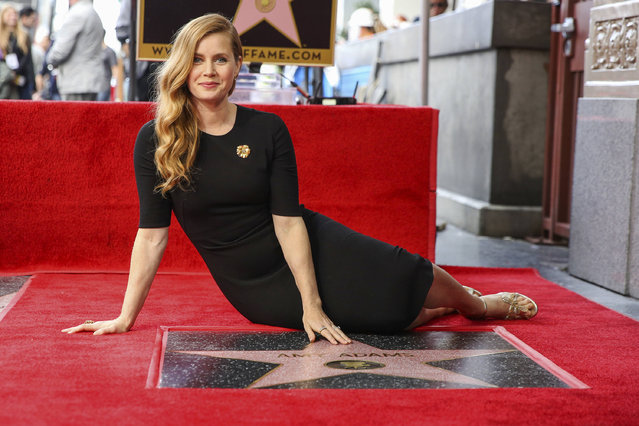 Amy Adams attends a ceremony honoring her with a star on the Hollywood Walk of Fame on Wednesday, January 11, 2017, in Los Angeles. (Photo by Rich Fury/Invision/AP Photo)