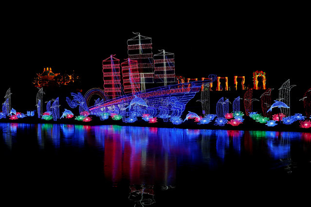 A light display is illuminated during the The Magical Lantern Festival marking the Chinese new year at Chiswick House in London, Britain January 18, 2017. (Photo by Neil Hall/Reuters)