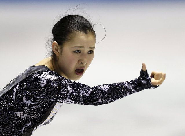 Kanako Murakami of Japan competes during the ladies' free skating program at the ISU World Team Trophy in Figure Skating in Tokyo April 18, 2015. (Photo by Yuya Shino/Reuters)